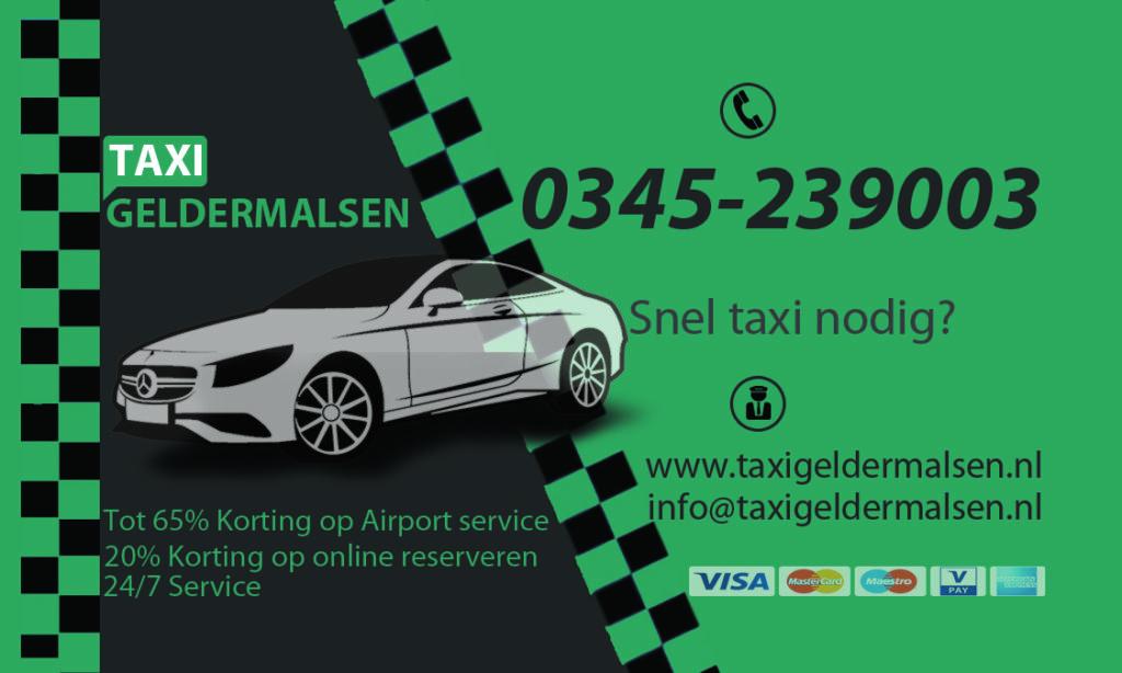 Taxi Geldermalsen Visitekaart